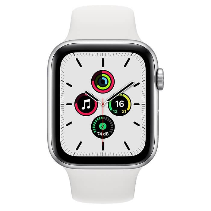 Apple Watch SE (44mm) Gümüş Rengi Alüminyum Kasa ve Spor Kordon Fiyatı ve Özellikleri