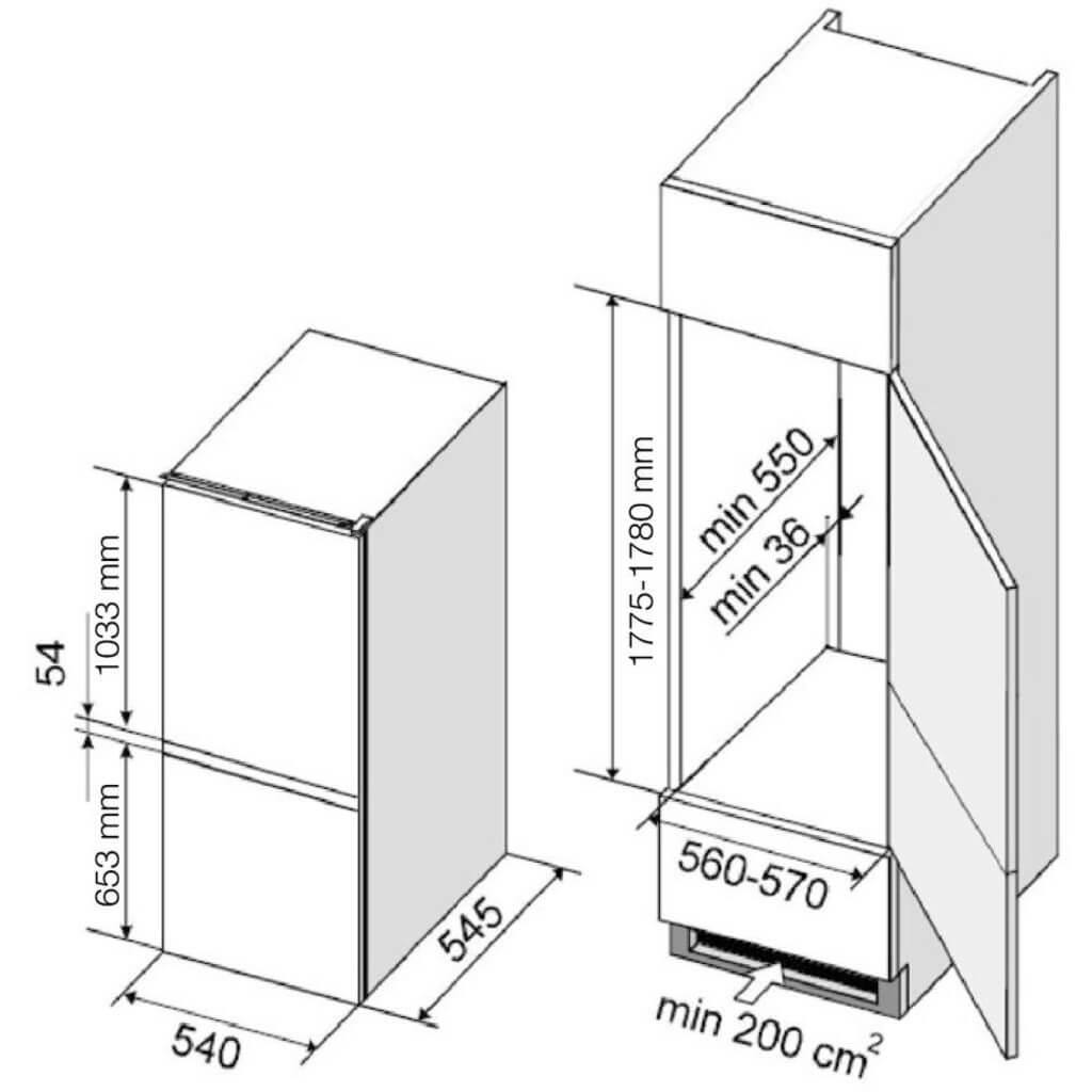 Dominox DBF 22-100 B buzdolabi