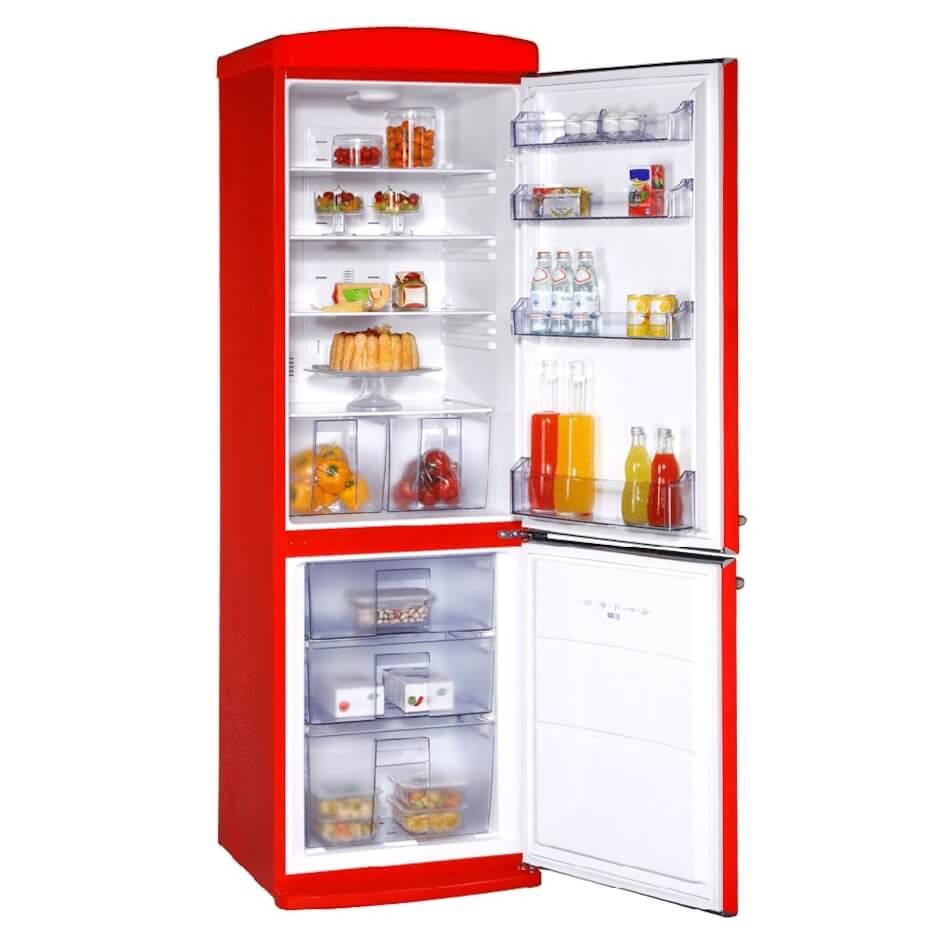 Vestel Retro NFK350 Kırmızı buzdolabi