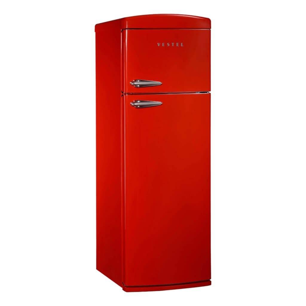 Vestel Retro SC325 Kırmızı buzdolabi